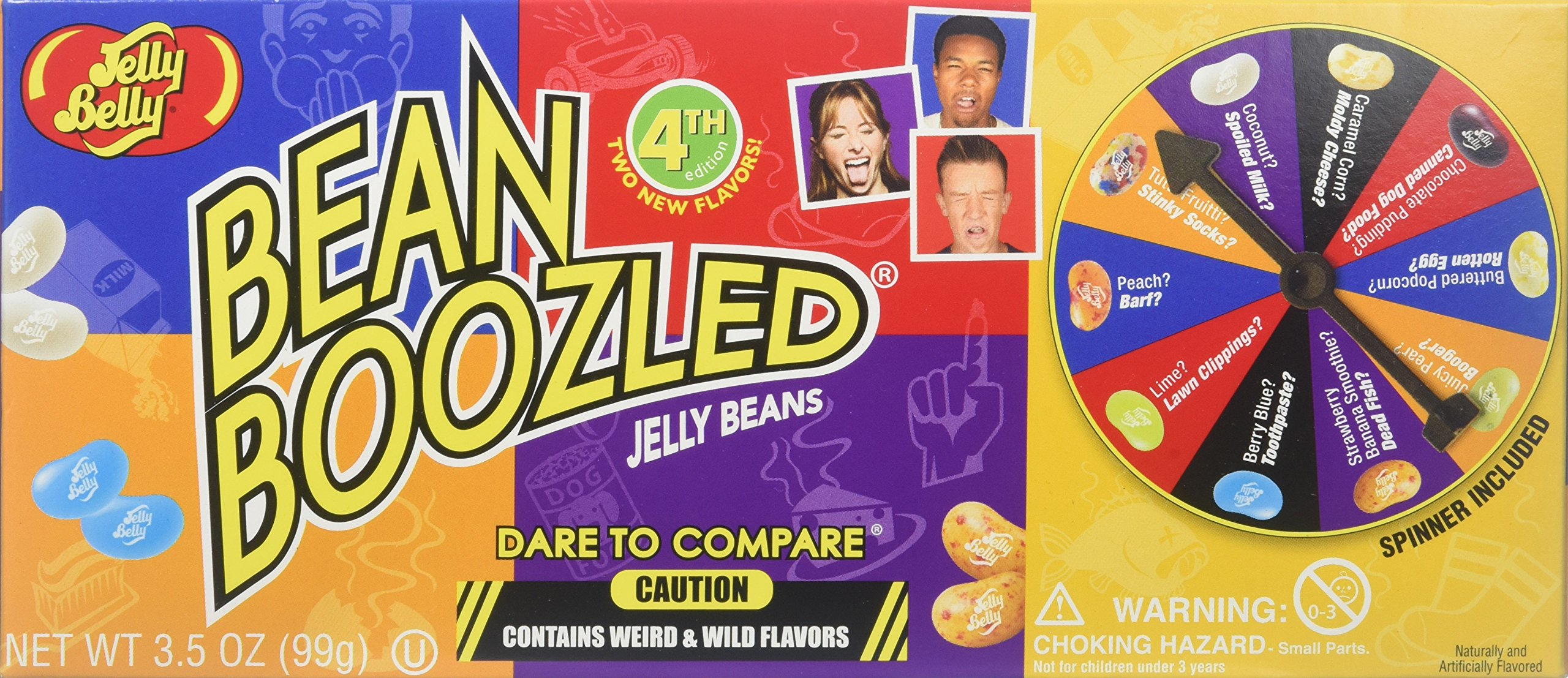 Jelly Belly BeanBoozled Jelly Beans Spinner Gift Box, 4th Edition, 3.5-oz