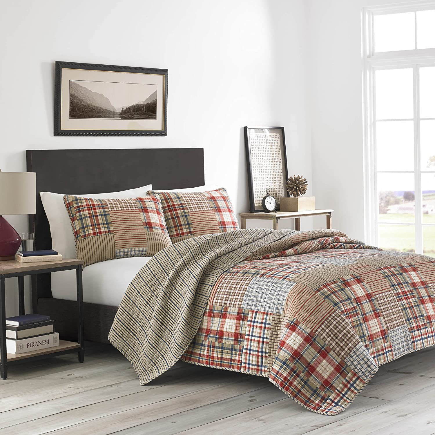 Eddie Bauer Hawthorne Bedding, Full/Queen, Brown