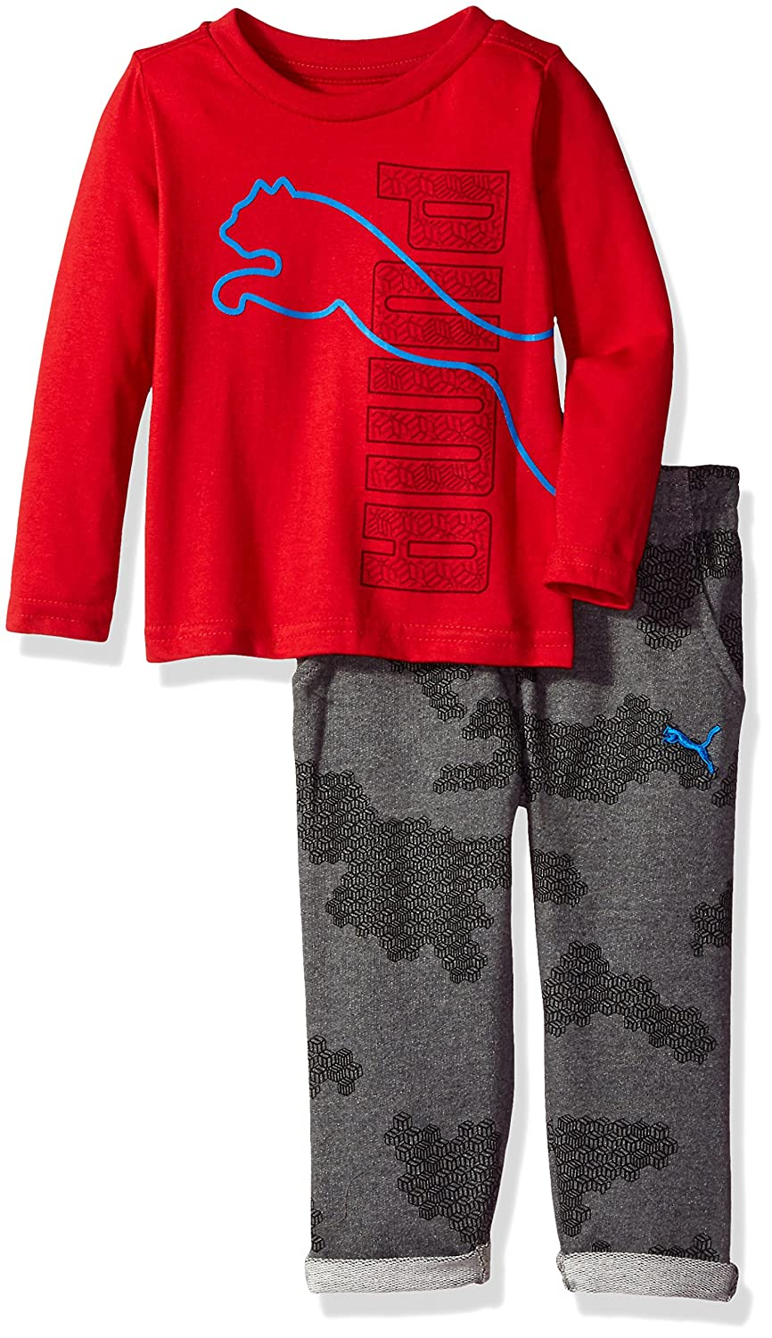 PUMA Boys Boys' Three Piece Pant, Hat and T-Shirt Set
