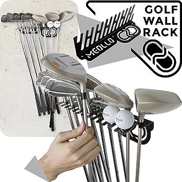 Soporte de pared para palos de golf (100% Acero) (Negro ...