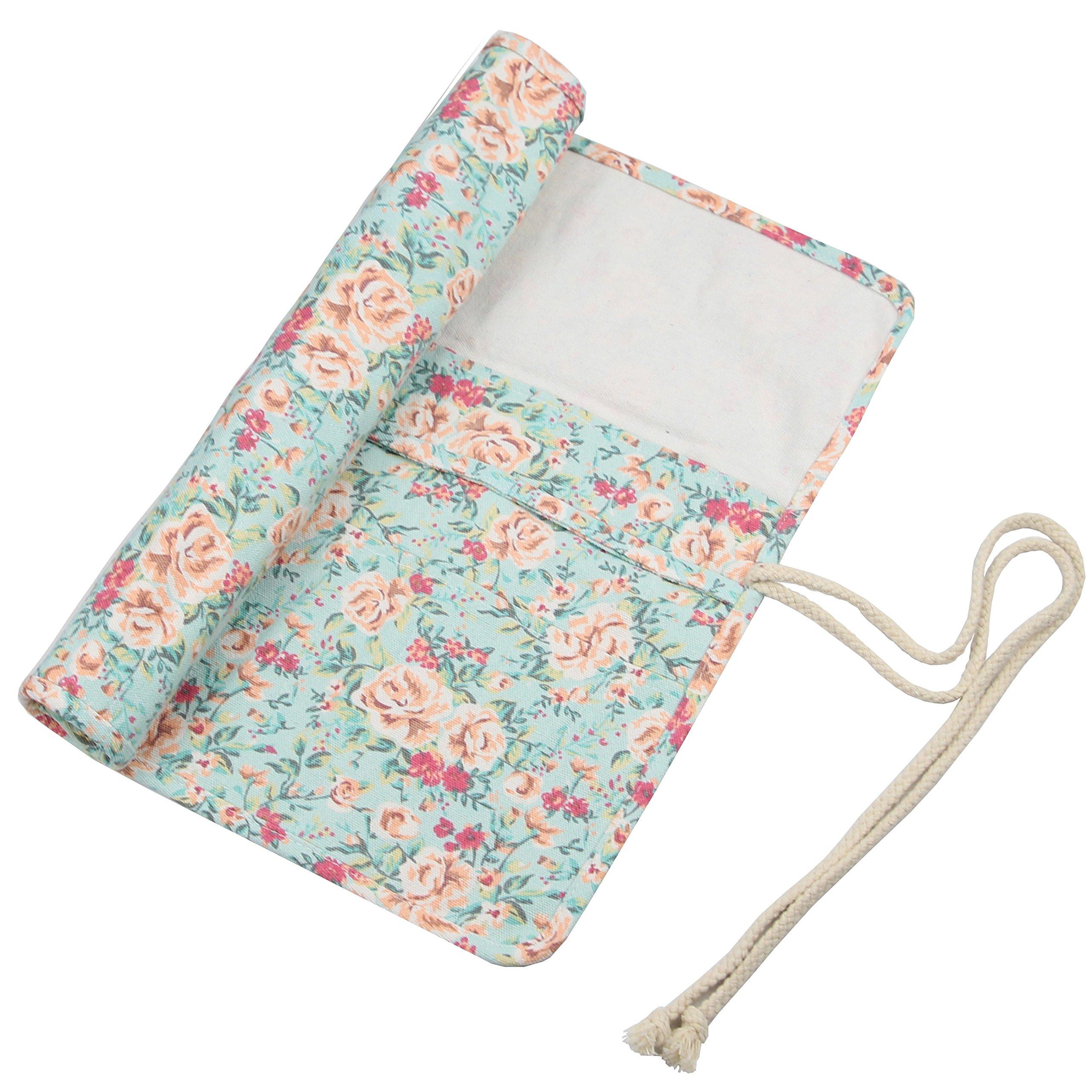 20 Pockets Art Paint Brushes Case Roll up Pen