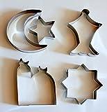 Islamic Eid & Ramadan Cookie Cutter Set - 5 Stainless Steel Cutters
