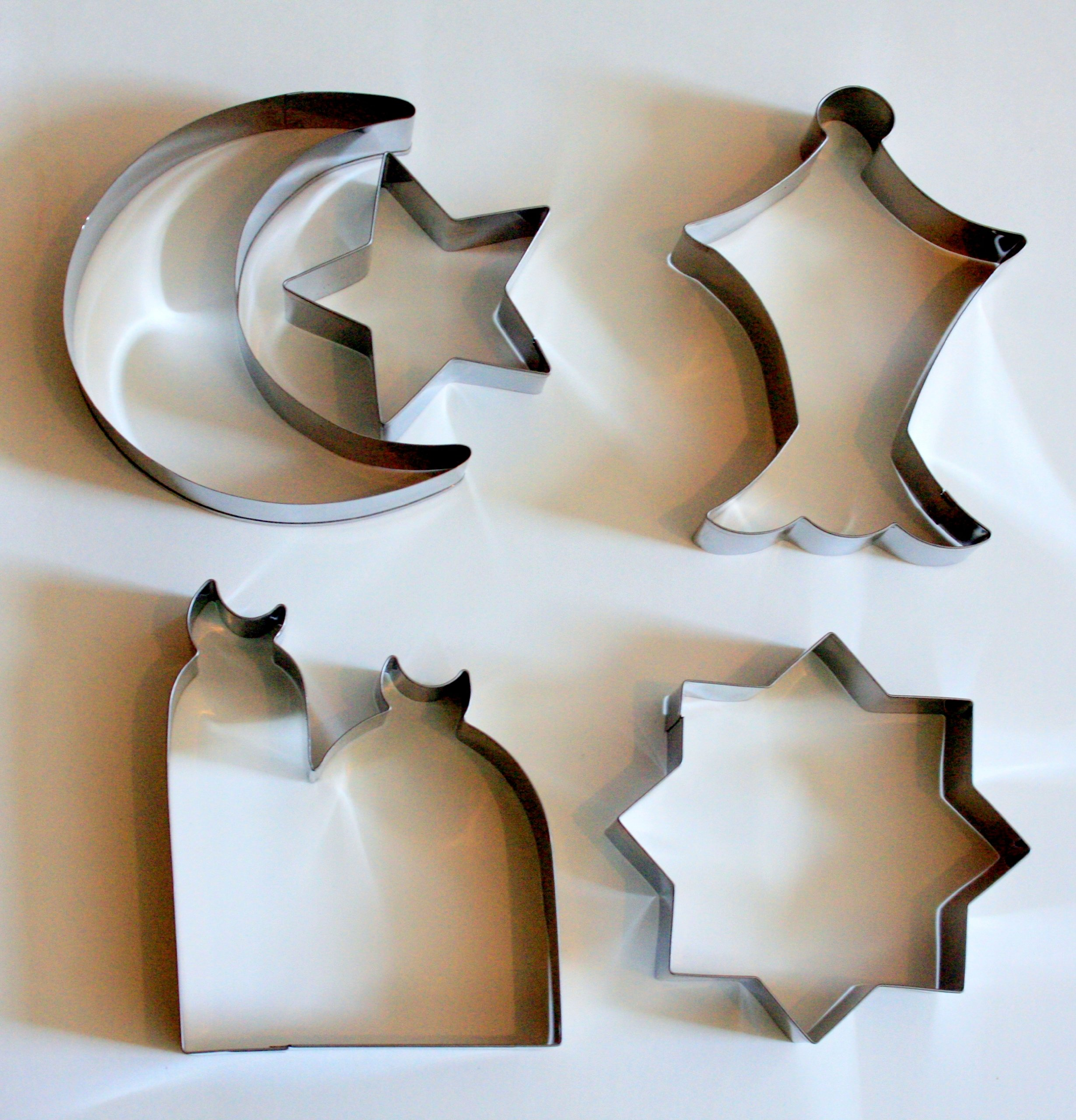 Islamic Eid & Ramadan Cookie Cutter Set - 5 Stainless Steel Cutters