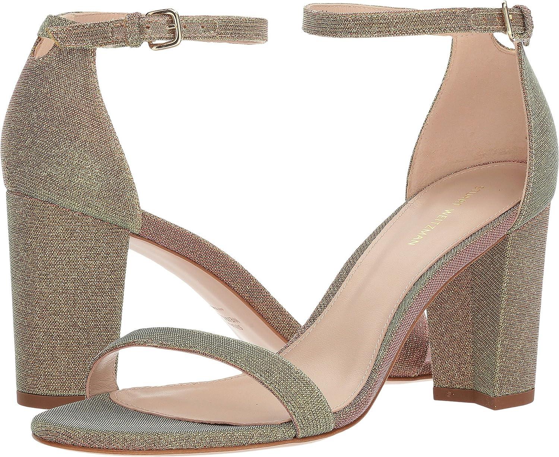 Stuart Weitzman Women's Nearlynude Heeled Sandal B079RMQ1M5 7 B(M) US|Gold Multi Nighttime