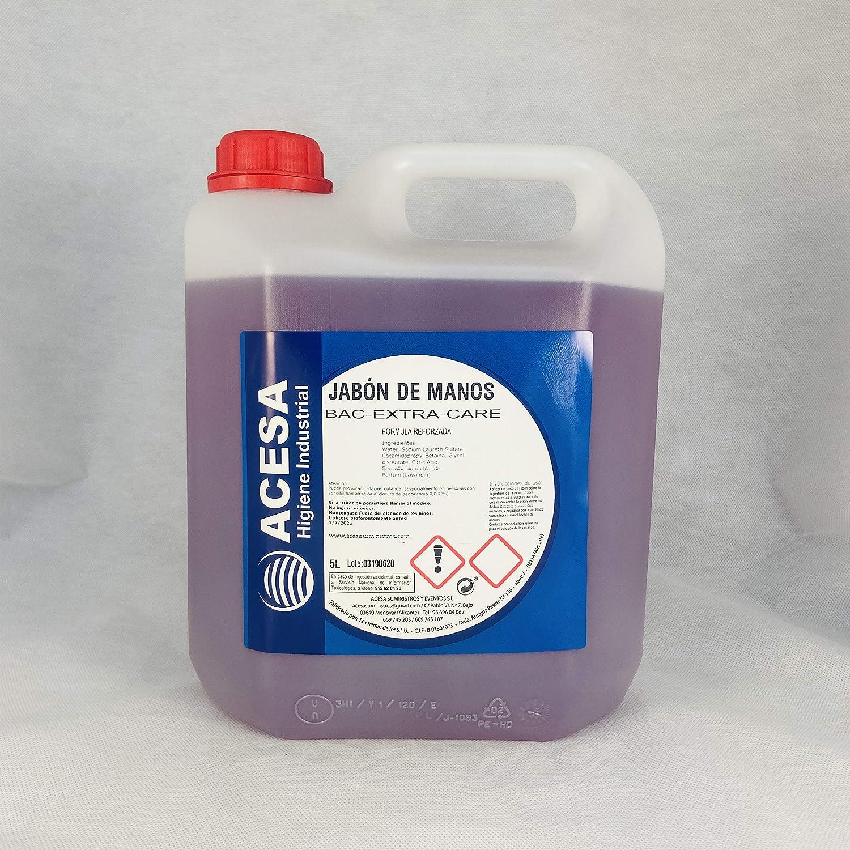 Jabón de Manos Concentrado Antibacterias Hidratante Dermoprotector Aroma Lavanda pH Neutro ACESA.