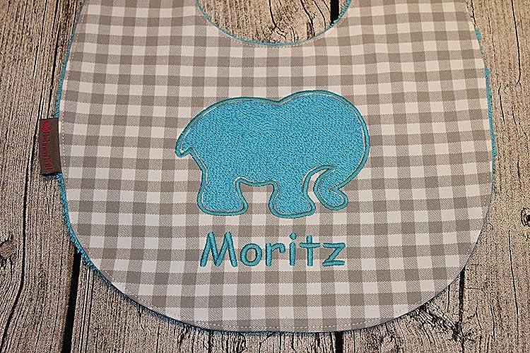 Stickerei Baby ♡ L/ätzchenKrone ♡ auch mit Namen Spucktuch Schlabberlatz Latz