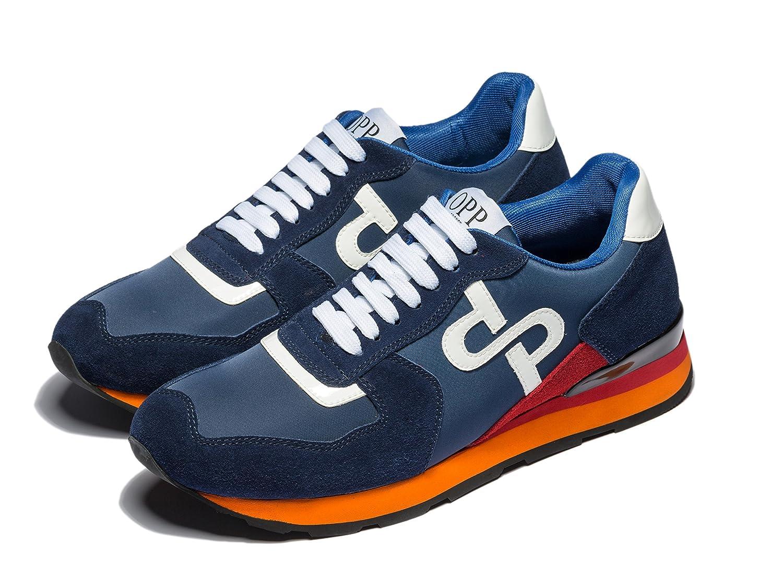 OPP Men's Fashion Lights Leather Sports Sneaker Lace-up Rubber Soft Sole Casual Shoes B07C3NCCD8 8 D(M)US|Blue