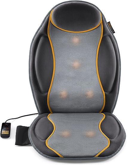 respaldo masajeador shiatsu espalda y hombros con función calor homedics