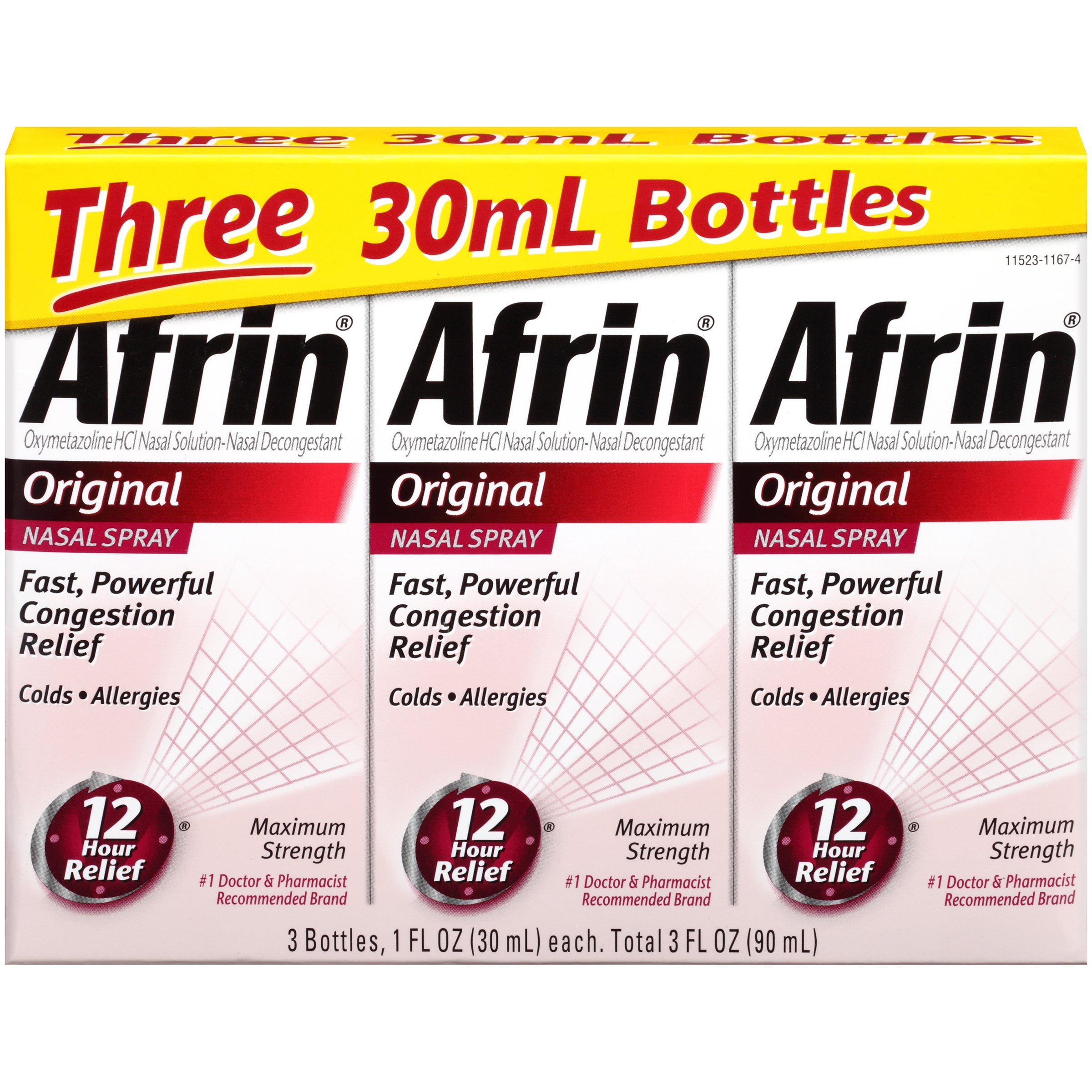 Afrin Original Nasal Spray, 3 Count by Afrin