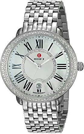 65747ea8c Image Unavailable. Image not available for. Color: MICHELE Women's Serein  Swiss-Quartz Watch ...