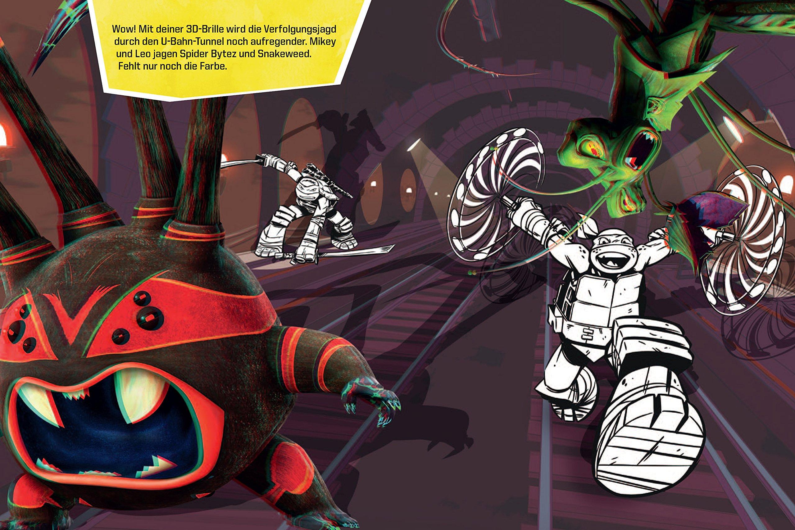 Mein 3D-Malbuch - Teenage Mutant Ninja Turtles: Ausmalen, Brille ...