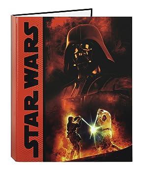 Star Wars - Carpeta folio con 4 anillas (Safta 511401067): Amazon.es: Juguetes y juegos