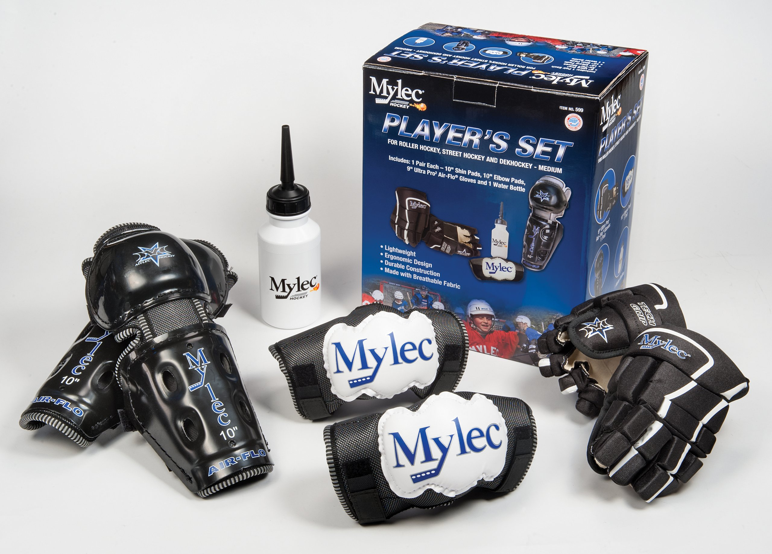Mylec Player's Set, Black/White/Blue, Medium