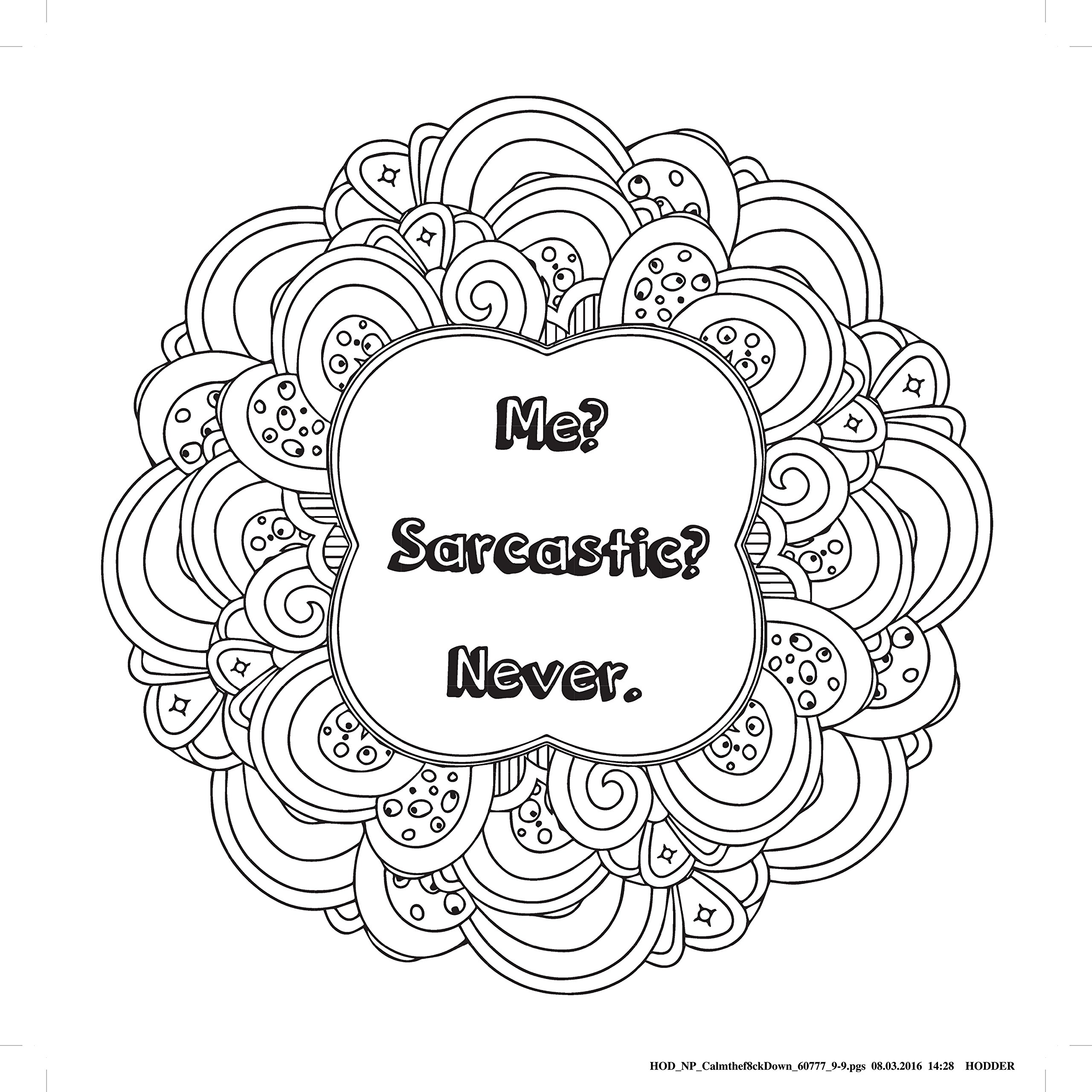 Calm the F Down Coloring Book Pages | Top Free Printable ...