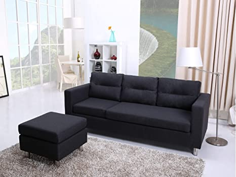 Excellent Leader Lifestyle Corner Fabric Charcoal Grey Three Seats Evergreenethics Interior Chair Design Evergreenethicsorg