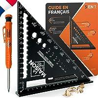Versie FR gradenboog, metaal aluminium [+ pen + handleiding FR] geleiderail / gereedschap voor timmerman/regel…