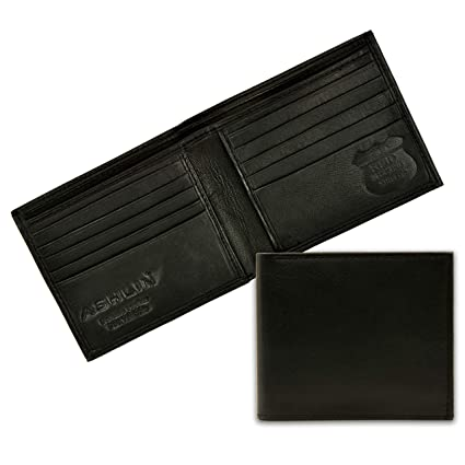 16e9328198d1 ASHLIN RFID Blocking Wallet| Made with #1 Grade Napa Genuine Leather  Excellent Credit Card Protector |10 Credit Card Pockets