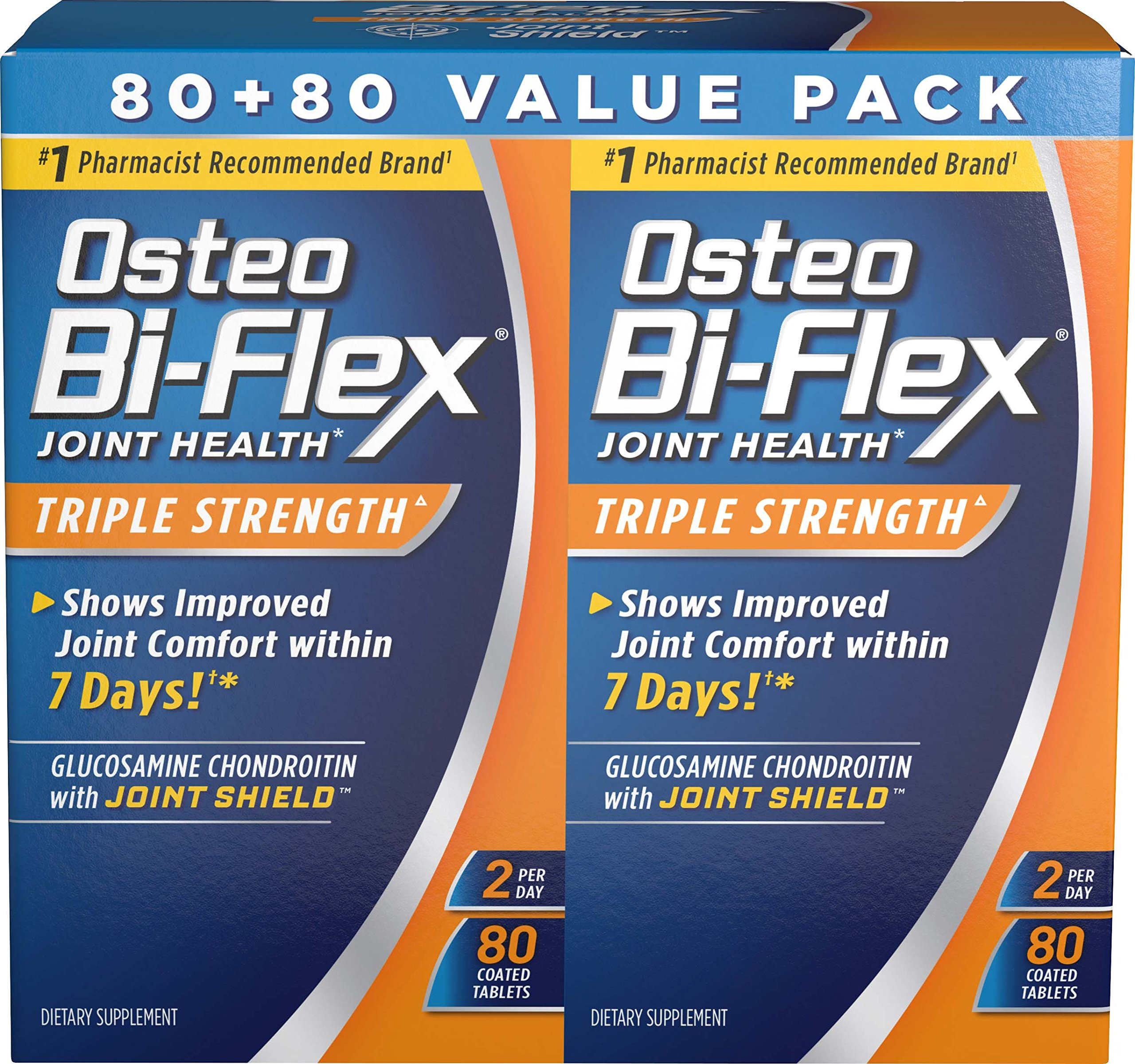 Osteo Bi-Flex Osteo bi-flex triple strength twinpack 80x2, 160 Count by Osteo Bi-Flex