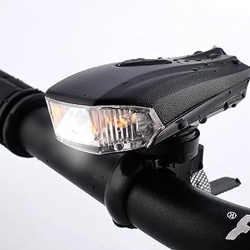 Faro Luz de Bicicleta, FisherMo Potente LED Faro Bici Recargable ...