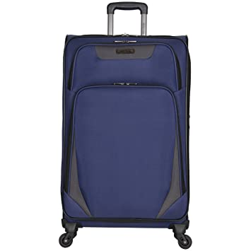 """59d151b25 Image Unavailable. Image not available for. Color: Kenneth Cole Reaction  Going Places 28"""" 600d Polyester Expandable 4-Wheel Spinner Checked  Luggage"""
