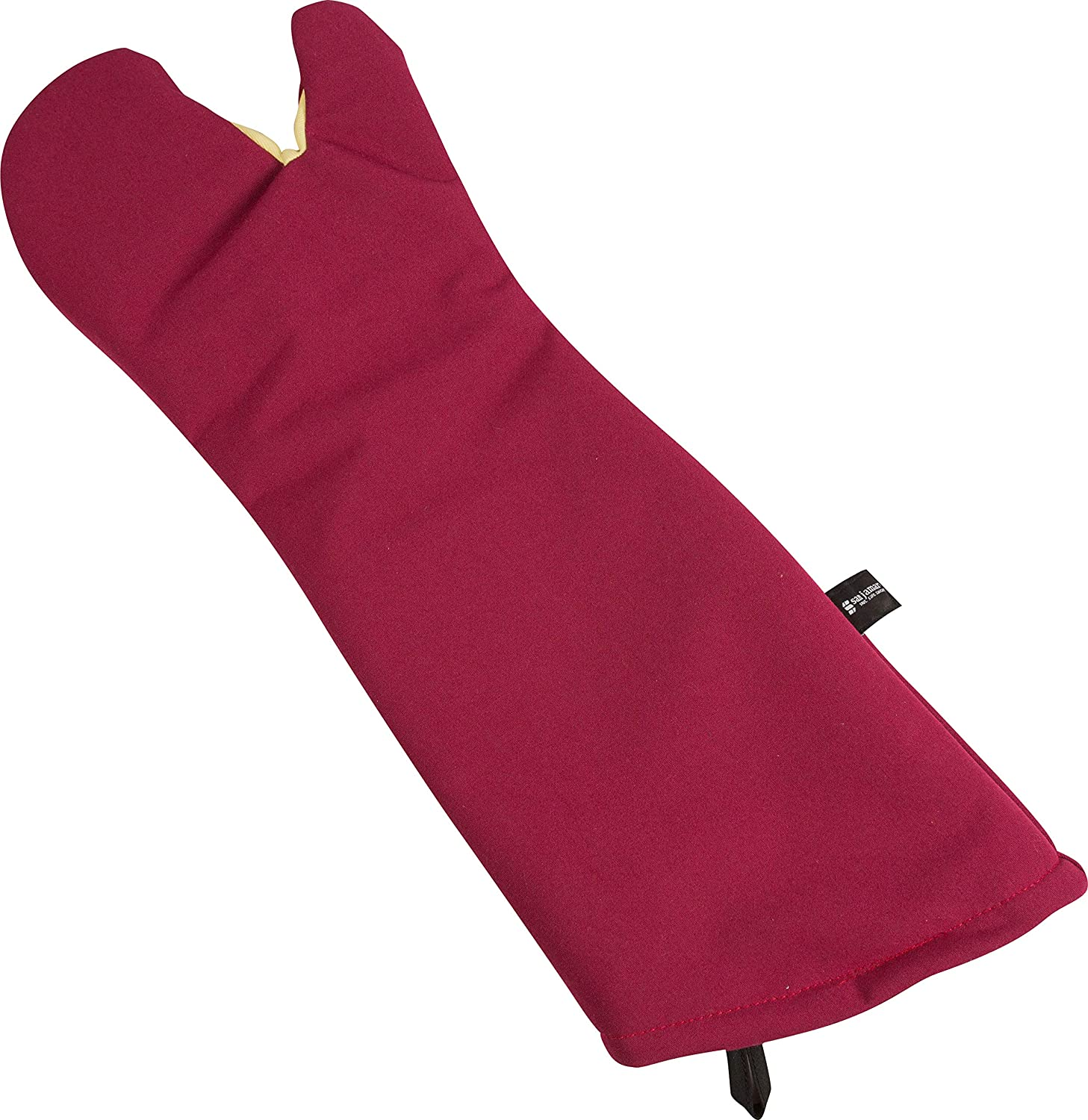 Red 24 Length San Jamar KT0224 Cool Touch Flame Conventional High Heat Intermittent Flame Protection up to 900/°F Oven Mitt 24 Length