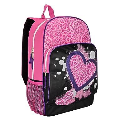 Amazon.com   MyGift 17 inch Pink Furry Leopard Print & Hearts ...