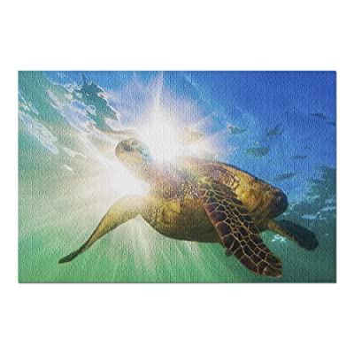 Hawaiian Green Sea Turtle Swimming in The Pacific Ocean of Hawaii 9003767 (Premium 1000 Piece Jigsaw Puzzle for Adults, 20x30, Made in USA!): Toys & Games