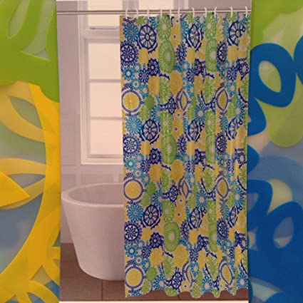 Comfort Bay 13 Piece Shower Curtain Set With Hooks Peva Chloride Free Odorless