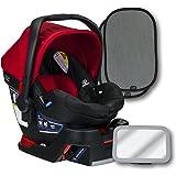 Britax B-Safe 35 Infant Car Seat, Cardinal, Back Seat Mirror, and 2 EZ-Cling Window Sun Shades