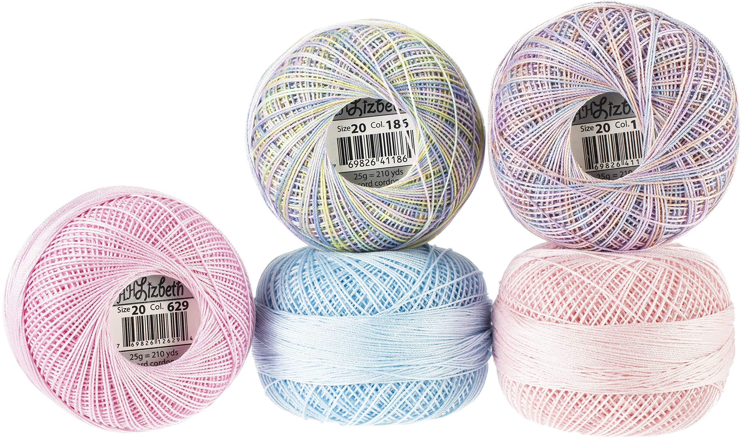 Handy Hands Lizbeth Specialty Pack Cordonnet Cotton Size 20-Spring Petals 5/Pkg