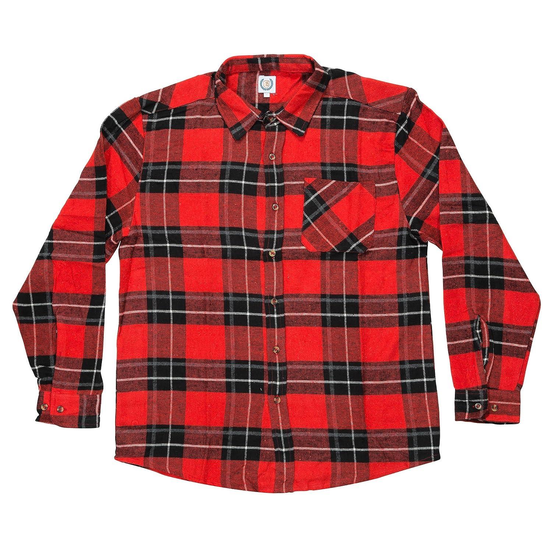 North 15 Mens/%100 Cotton Flannel Shirt