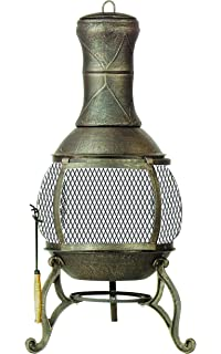 Amazon.com : Deckmate Sonora Outdoor Chimenea Fireplace Model ...