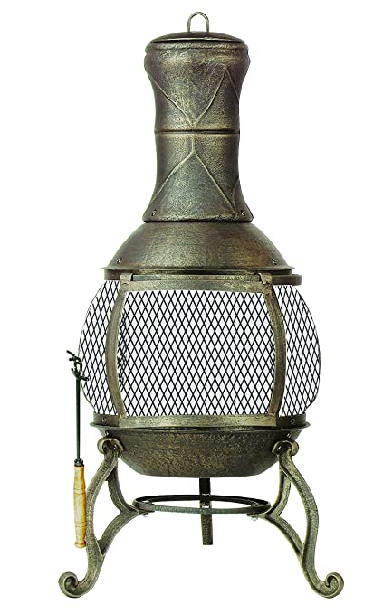 Amazon Com Deckmate Corona Outdoor Chimenea Fireplace Model 30075