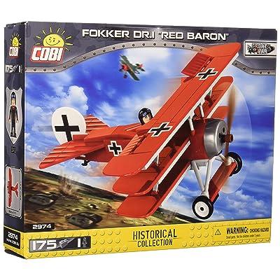 "COBI Historical Collection Fokker DR.1 ""Red Baron"" Plane: Toys & Games"
