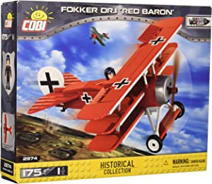 "COBI Historical Collection Fokker DR.1 ""Red Baron"" Plane"
