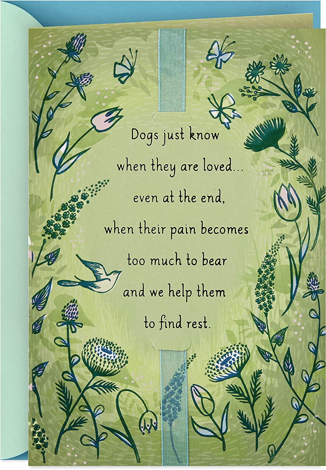 Dog/'s Passing Sympathy Card Animal Rainbow Bridge Loss of a Pet Card Dog with Wings Dog Love Loss of a Dog Sympathy Card Dog Angel