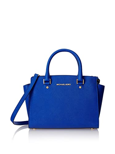 e0c05a9355fe5d Amazon.com: Michael Kors Selma Medium Satchel ELECTRIC BLUE: Shoes