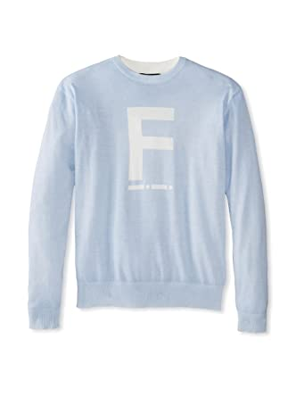 Amazoncom French Connection Morse F Light Blue Graphic Crew Neck