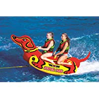 Deals on WOW Watersports Super Dog 2 Person Towable Tube w/Handles