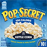 Pop Secret Snack Size 100 Calorie Kettle Corn, Microwavable Popcorn, 10-Count, 11.2-Ounce Box (Pack of 3)