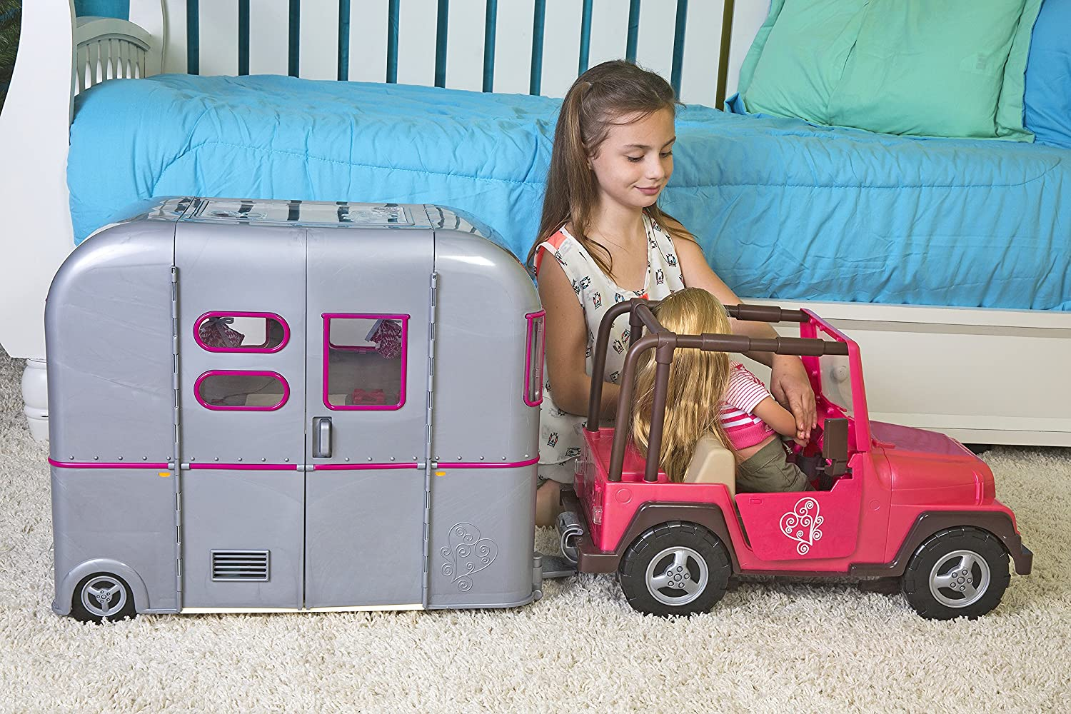 Amazon.com: Our Generation R. V. Seeing You Camper for 18-Inch Dolls ...