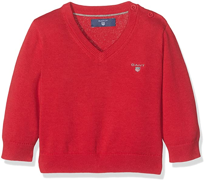 price reduced great fit outlet store sale Gant Baby Boys Baby Boy Lightweight Cotton V-Neck Sweater ...
