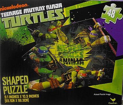 Amazon.com: Teenage Mutant Ninja Turtles 48 pieza Shaped ...