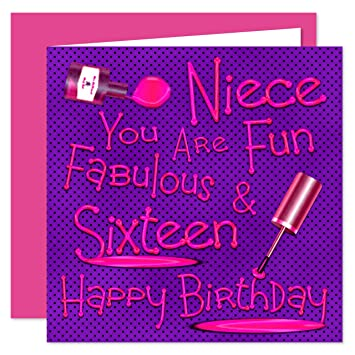 Niece 16th happy birthday card naughty nails fun design 16 today niece 16th happy birthday card naughty nails fun design 16 today bookmarktalkfo Gallery
