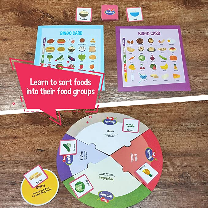 Toiing Nutrivity-Kids Puzzle Game Kids Healthy Eating Play Learning Kit Games and Activity Booklet Toddlers Healthy Games Activity Game for Kids 3-5 Year Old