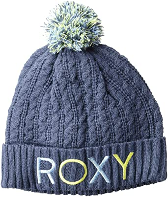 e7a774534 Roxy Snow Junior's Fjord Snow Beanie, Crown Blue, 1SZ at Amazon ...