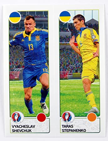 Uefa euro 2016 panini sticker vyacheslav shevchuk taras stepanenko ukraine num
