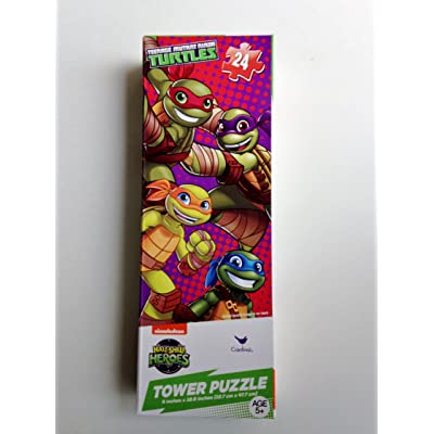 Teenage Mutant Ninja Turtles 24 Piece Tower Jigsaw Puzzle - Half-Shell Heroes: Toys & Games