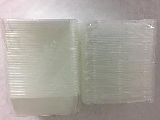 50 x plástico 750 ml con tapa de envases para microondas ...