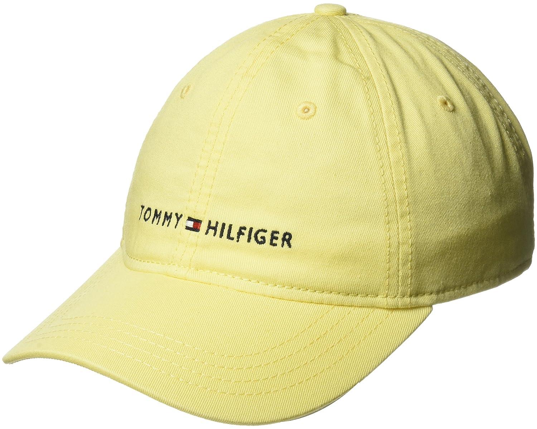 1bf0a3c0 Tommy Hilfiger Men's Logo Dad Baseball Cap, Charcoal, O/S at Amazon Men's  Clothing store: